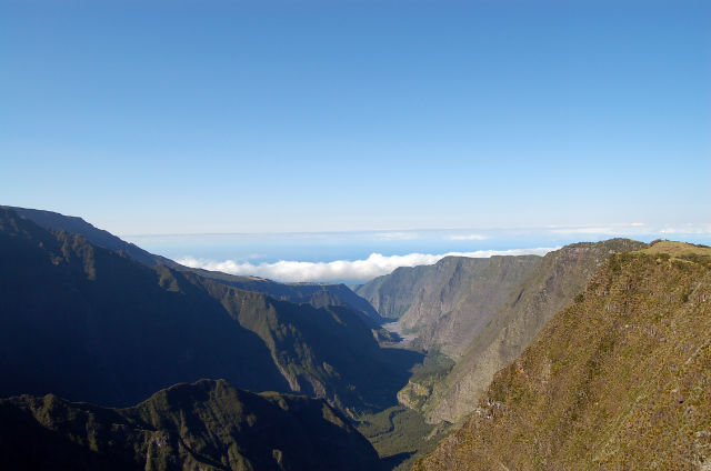 Les montagnes de l'île de la Réunion